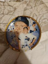 Collector Plates by Hamilton Collection- Sports Plate Mickey Mantle