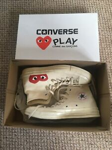 Comme Des Garcons Play x Converse Chuck Taylor All Star 70 Hi - Beige - UK 8