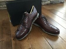 NEW Sz 11M Men Cole Haan ZeroGrand Wingtip Oxford Burnished Wine Leather C30279