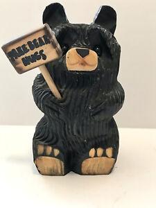 Primitive Style Chainsaw Carved BEAR Sculpture Wood Log Cabin Rustic Folk Art