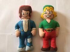 More details for bisto kids soft toys pair advertising dolls charity fund raising nspcc 1989