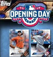 2016 TOPPS OPENING DAY 200 CARD SET RCs TURNER SEAGER SANCHEZ CONFORTO MONDESI +