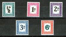 SOUTH AFRICA 1948-49 POSTAGE DUE SET SGD34/8 U/M