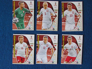 Panini Adrenalyn XL World Cup Russia 2018 - Lot of 6 - Poland