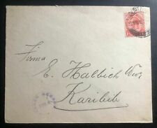 1918 Lüderitz South Africa WW1 Censored Cover To Karibib South West Africa