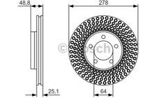 1x BOSCH Disco de freno delantero 277,5mm 0 986 479 699