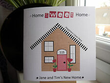 Modern Handmade Personalised New Home Housewarming Moving House Card Sweet Home