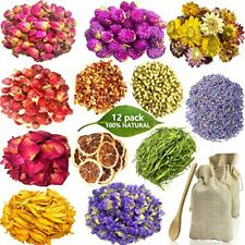 Dried Flowers for Soap Making, 12 Pack Natural Dried Flowers and Herbs Kit