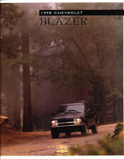 1998 Chevrolet Chevy Blazer 40-page Original Sales Brochure Catalog