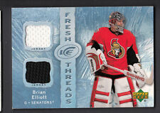 Brian Elliott 2007-08 Upper Deck ICE Fresh Threads Dual Game Worn Jersey Card