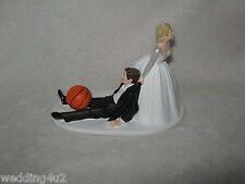Wedding Party ~Basketball~ Cake Topper Sports Bride Dragging Groom to Alter