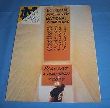 Notre Dame Irish vs BYU Cougars Game Program Magazine 1992