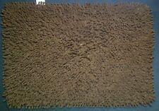CHOCOLATE BROWN 100% SOFT COTTON  SHAGGY  RUG / BATH MAT 48cm x 67cm ONLY £4.99