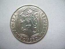100 Korun Crowns CZECHOSLOVAKIA 1918 - 1948 Ag TSCHECHOSLOWAKEI TCHÉCOSLOVAQUIE