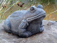 Steinfigur Frosch Figur Gartenfigur Teichdeko Skulptur Gartendeko frostfest