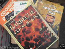Lot of 16 Vintage Cookbooks BBQ Midwest Italian Fruits Nuts Berries Chocolate