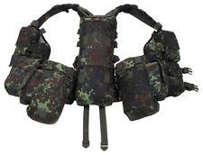 Tactical Combat Vest Army Outdoor Gotcha German Bundeswehr Flecktarn 12 Bags