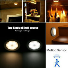 6 LED Luces de Sensor de MOVIMIENTO Inalámbrico PIR Luz De Noche Lámpara De Gabinete escalera interior UK