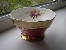Foley Sugar Bowl Fine Bone China 1st Quality Red Gilt Floral British
