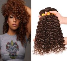 8A 300g/3bundle Unprocessed Brazillian Color 4 Brown Deep Wave Curly Human Hair