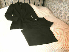 Two piece business suit by SOUTH Jacket and trousers Brown Pinstripe Size 12 ?