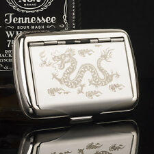 NEW Carved Dragon Metal Tobacco Box Case with Cigarette Paper Holder