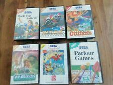 SEGA Master System Spiele 6 Stück komplett OVP Anleitung
