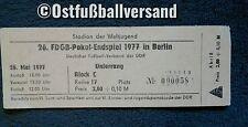 Ticket FDGB Pokal Finale 1976/77 Dynamo Dresden 1.FC Lok Leipzig Eintrittskarte