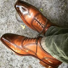 New handmade designer brogue shoes, Men wingtip shoes, Formal shoes for mens