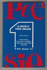 La Nouvelle Poésie Anglaise, Poésie 1, 1979 N°69-70 édition bilingue