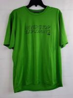 The North Face Lime Green Never Stop Exploring T-Shirt Men's Large S/S FlashDry