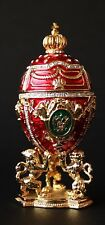 """St Petersburg Russian Faberge Egg: Royal Egg on the Lion Stand, 3.8"""""""
