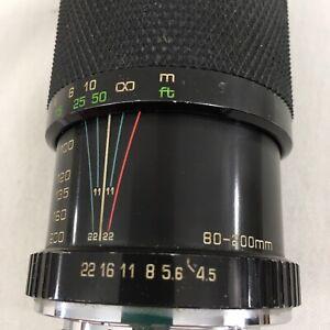 Soligor Japan 80-200mm 1:4.5 Macro Zoom Lens