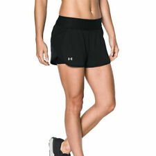 Under Armour UA HeatGear Launch Tulip 2 In 1 Ladies Black Running Shorts