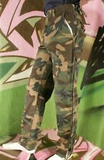 FULL SIDE LENGTH ZIP COMBAT CARGO TROUSERS XS CAMOUFLAGE W28 EASY EXIT GAY K14