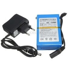 DC 12V Portable Super Rechargeable 4800mAh Li-ion Battery + Plug For CCTV Camera