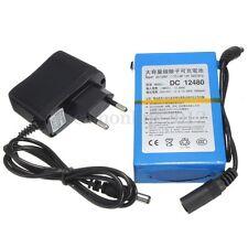 DC 12V Portable Super Rechargeable 4800mAh Li-ion Battery + Plug For CCTV Camera