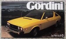 RENAULT 17 GORDINI USA Car Sales Brochure c1979