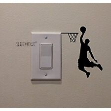 Basketball Player Cartoon Vinyl Switch Sticker Decor Lightswitch Decor Wall