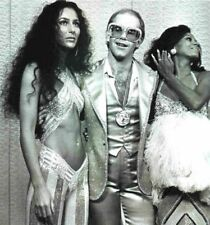 Elton John, Cher & Diana Ross At Studio 54 1970's 8.5x11 Platinum Gloss Photo