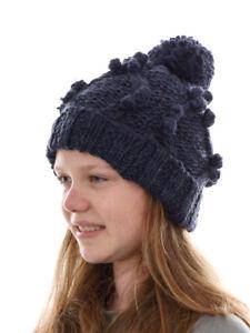 O`Neill Beanie Strickmütze Kopfbedeckung Santa Ana blau Bommel Bund