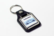 Nissan Figaro Keyring - Leatherette & Chrome Classic Car Keyfob