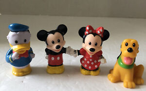 Fisher-Price Disney Little People Mickey Minnie with Pluto and Donald Toys