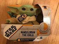 """Star Wars Mandalorian The Child Plush 7.5"""" Talking Baby Yoda Hasbro"""