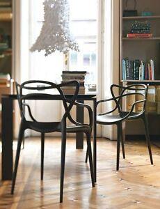 Kartell Masters Philippe Starck schwarz  Besucherstuhl Stuhl Esszimmerstuhl