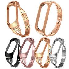 Luxus Diamant Stainless Steel Ersatz Uhrenarmband Strap Für Xiaomi Mi Band 4 NEU