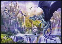 Dragon Castle - Chart Counted Cross Stitch Pattern Needlework Xstitch DIY DMC