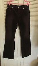 Women's London jeans stretch brown corduroy jeans sz 8  4-button fly gently used