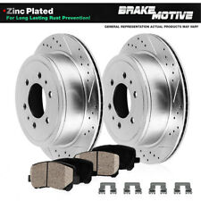 FRONT + REAR KIT 1306 4 Platinum Hart *DRILLED /& SLOTTED* Disc Brake Rotors
