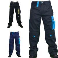 Mens Work Trousers Cargo Combat Heavy Duty Knee pads pockets UK Premium Quality